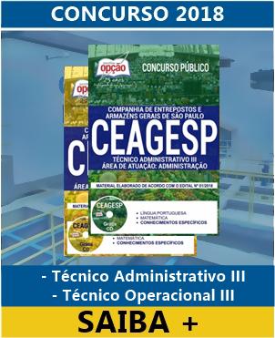 apostila para o concurso CEAGESP Técnico Administrativo III