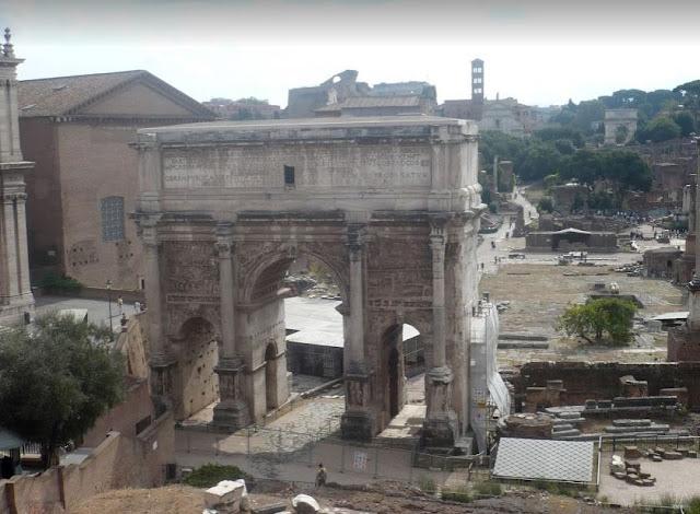 vista sui fori romani