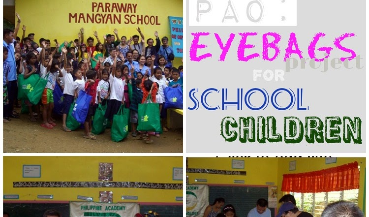 "PAO Rolls Out ""EyeBags"" Project for School Children"