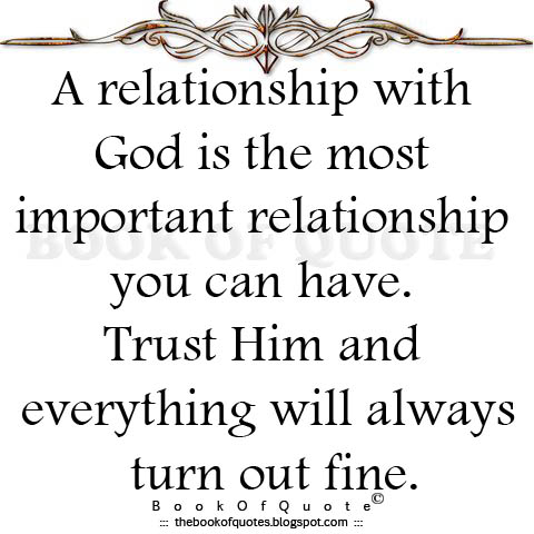 how to maintain the relationship with god