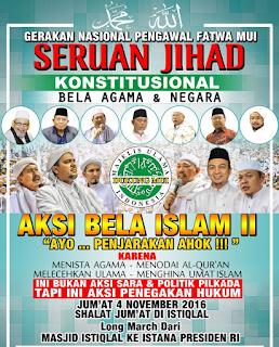 Seruan Jihad Konstitusional bela agama dan negara, aksi bela islam II