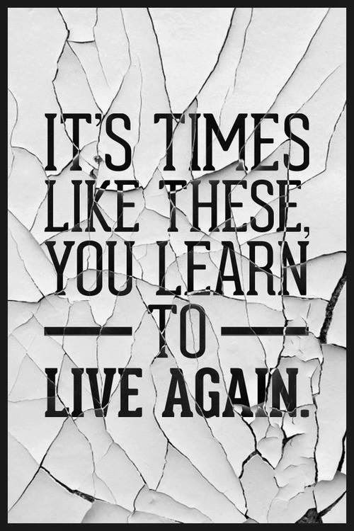 Learn to live again.