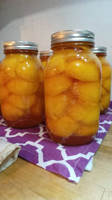 Honey Syrup Canned Peaches