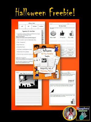 Halloween Freebies: Here are two different freebies that my second graders enjoy.