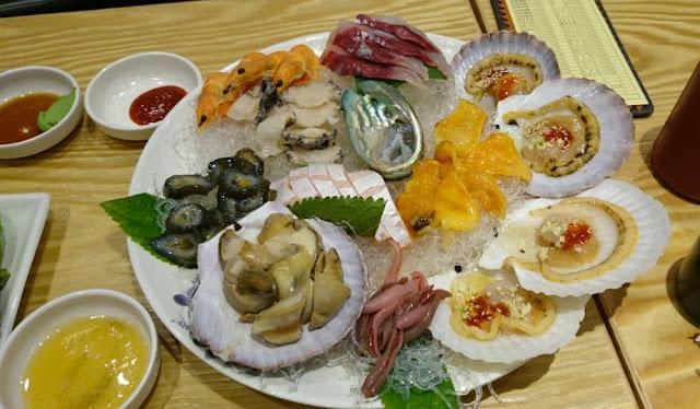 Seoul - Abendessen mit frischen Meeresfrüchten