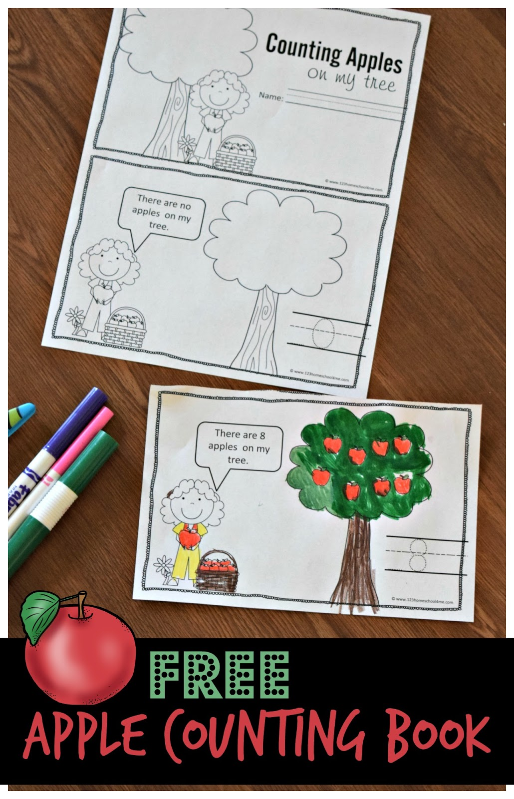 Counting Apples Mini Book
