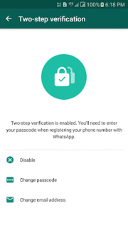 How to enable Two-Step Verification protection on my WhatsApp number?