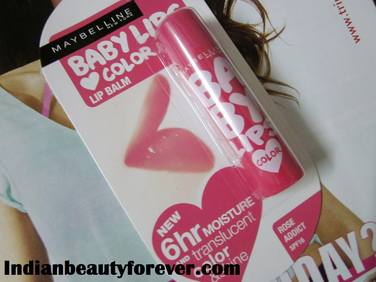 Maybelline baby lips in Rose addict Review