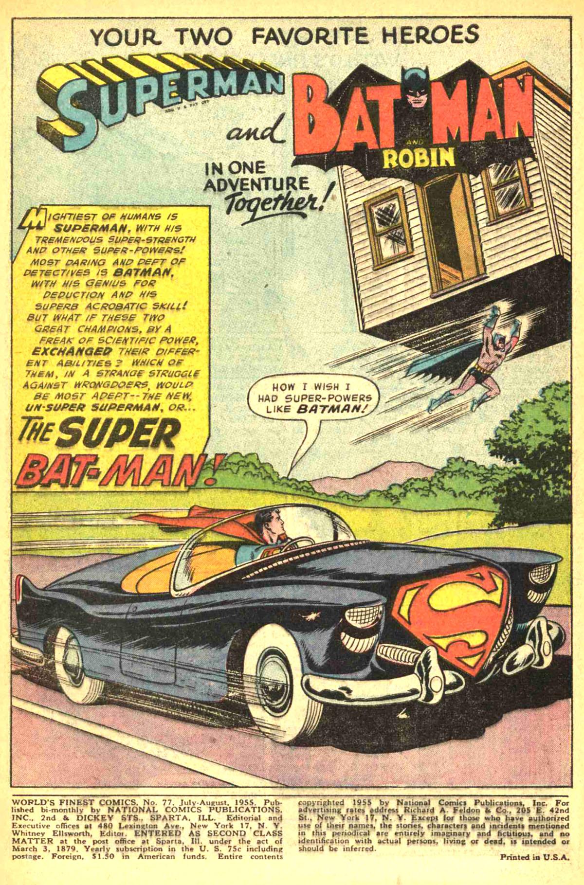 Read online World's Finest Comics comic -  Issue #77 - 3