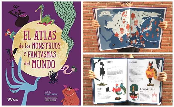 libro infantil niños halloween El atlas de los monstruos y fantasmas del mundo