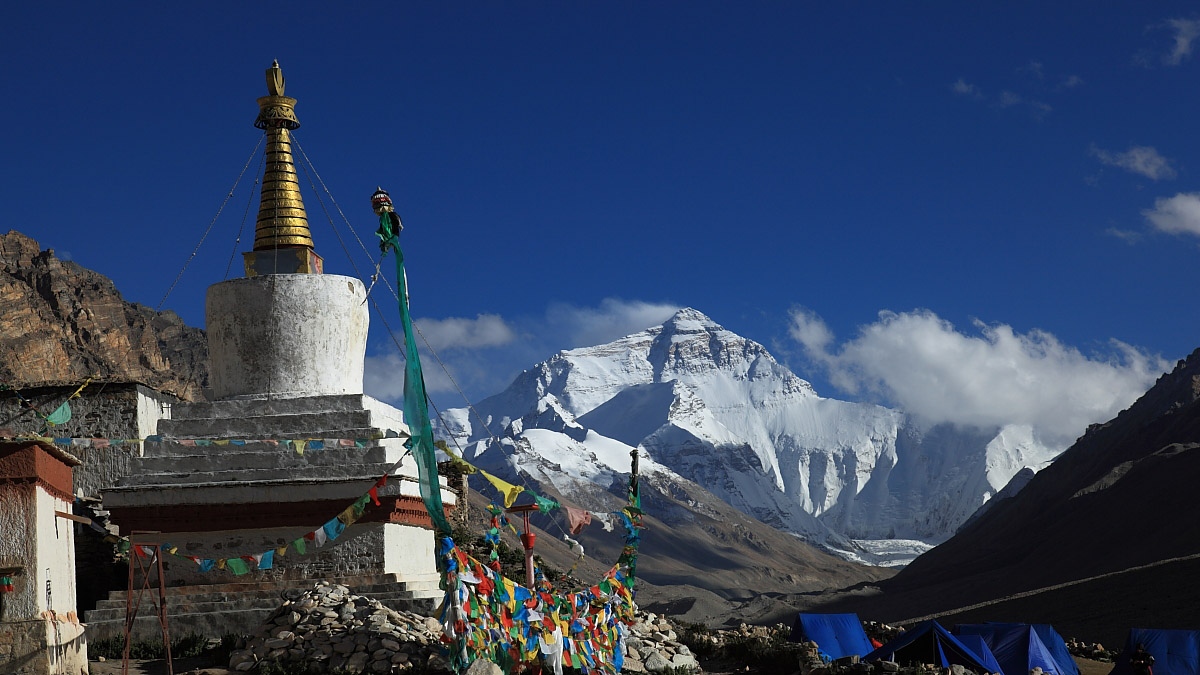 The beautiful landscape of Mount Everest base camp.