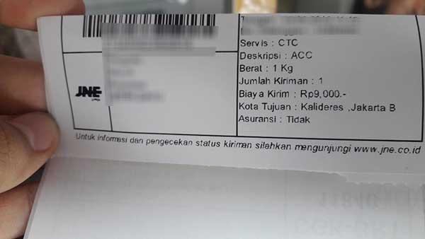 Cek Ongkir JNE Kiriman Dari Kab Aceh Tengah