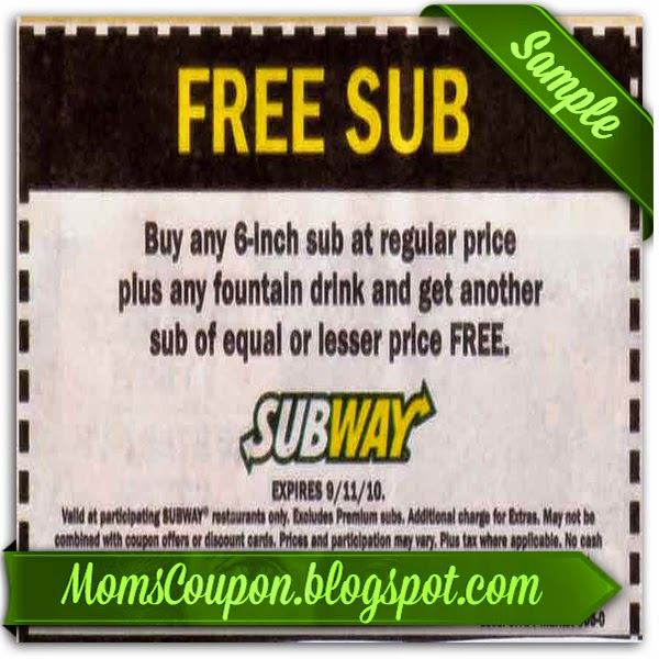 picture about Printable Subway Coupons named Subscribe subway discount coupons / American big garments coupon code