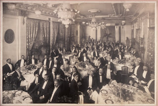 A photograph taken at a dinner held in honour of Gatti- Casazza and Toscanini at the Hotel St Regis in New York