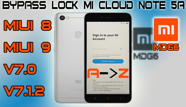 REMOVE MI ACCOUNT LOCK 2018 PATSH MIUI 9 XIAOMI REDMI NOTE