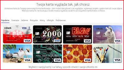mBank, spersonalizowana karta płatnicza