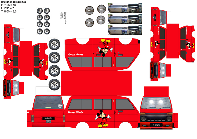 Design Papercraft Bus 2017