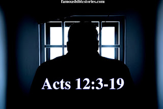Story of Peter Escape from Jail, Rhoda came to answer the door when Peter knocked, Acts 12:3-19