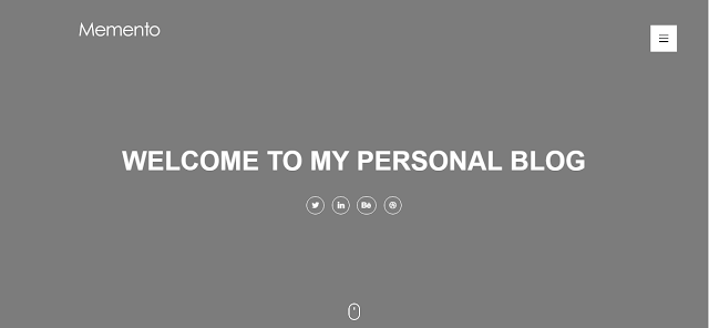Memento Blogger Template Free Download