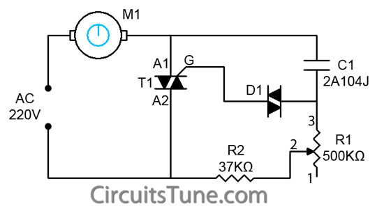 Ceiling fan regulator circuit