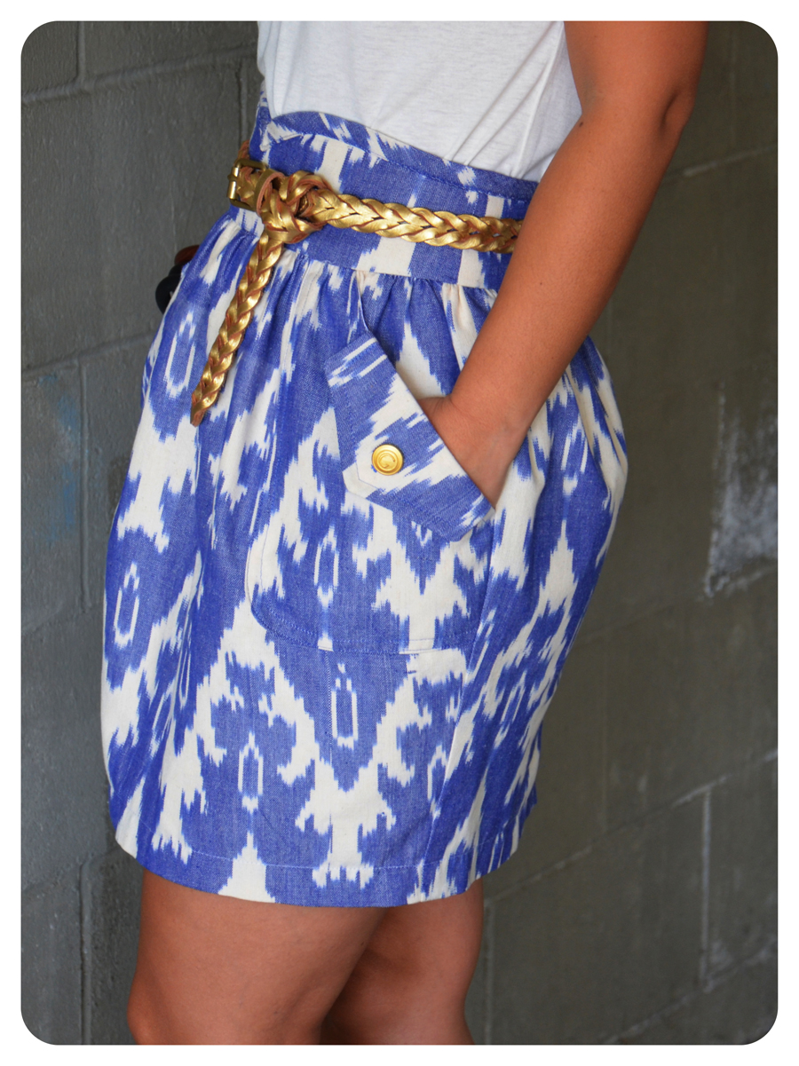 DIY IKAT Print Skirt + Pattern Review Simplicity 2512 ...