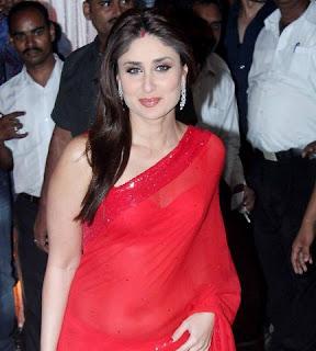 Kareena Kapoor Khan looks hot in red saree