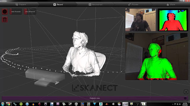 how to use skanect, skenect, kinect scanner program