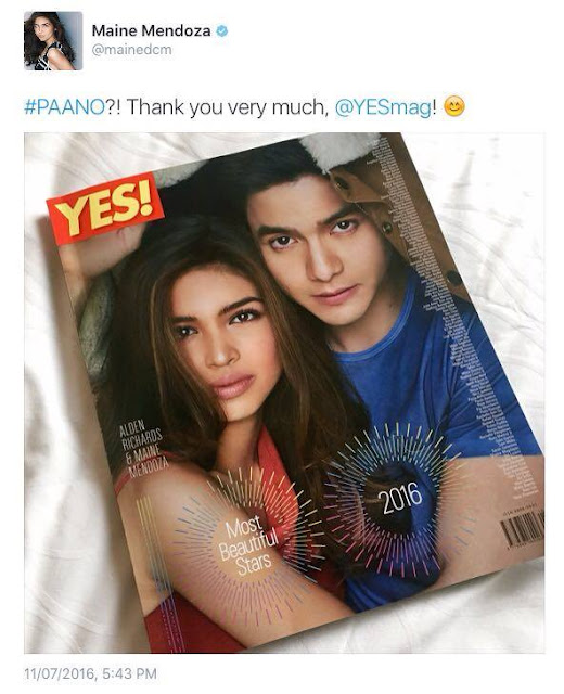 AlDub Tops the list of Yes! 100 Most Beautiful Stars 2016