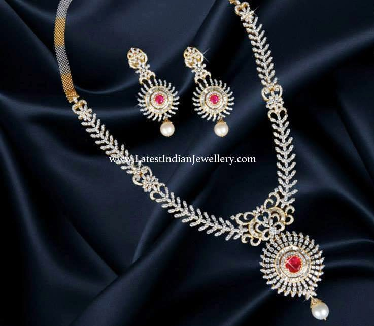Designer Indian Bridal Diamond Haram