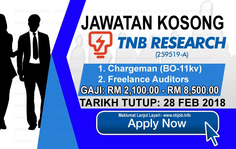 Jawatan Kerja Kosong Tenaga Nasional Berhad - TNB Research logo www.ohjob.info februari 2018
