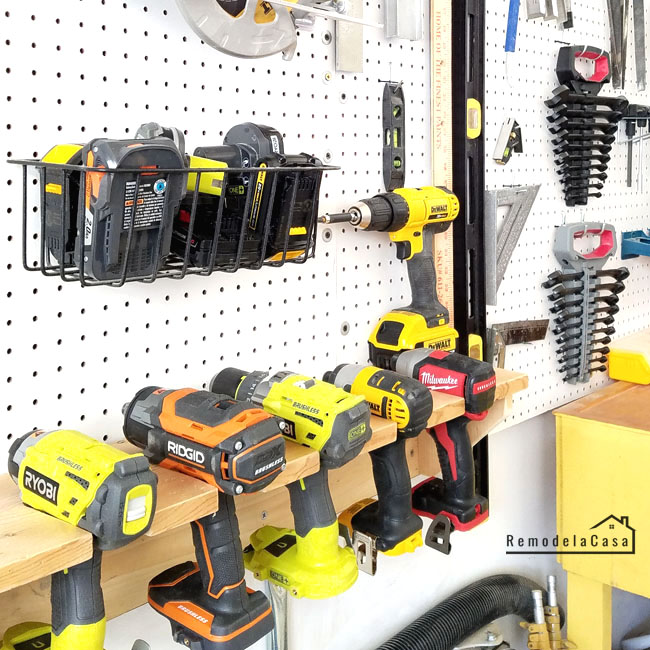 how to build a shelf to store your drills