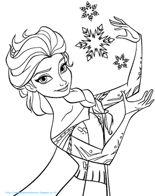 Mewarnai Gambar Frozen - 5