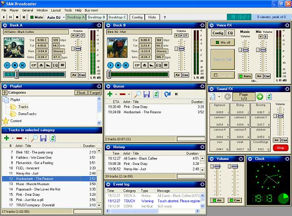 Download Old And New Software: Free Download SAM Broadcaster
