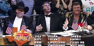 WWF / WWE Royal Rumble 1997 - Jim Ross, Vince McMahon, and Jerry 'The King' Lawler did commentary