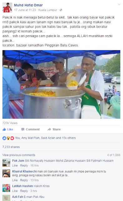 Nasi Beriyani beratur yang viral