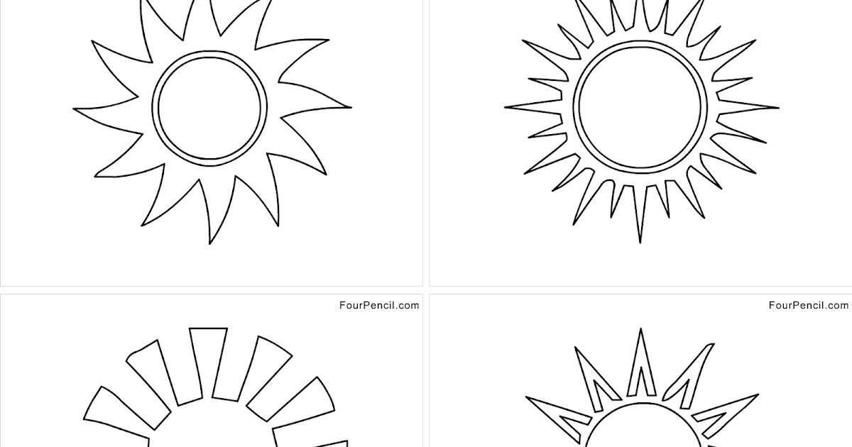 four coloring free printable sunshine coloring pages for kids