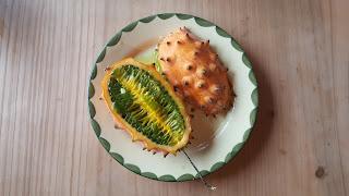 Kiwano / Horngurke - Schmeckt lecker nach grüner Banane