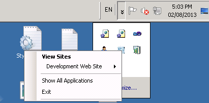 How to edit applicationHost.config of website in IIS Express