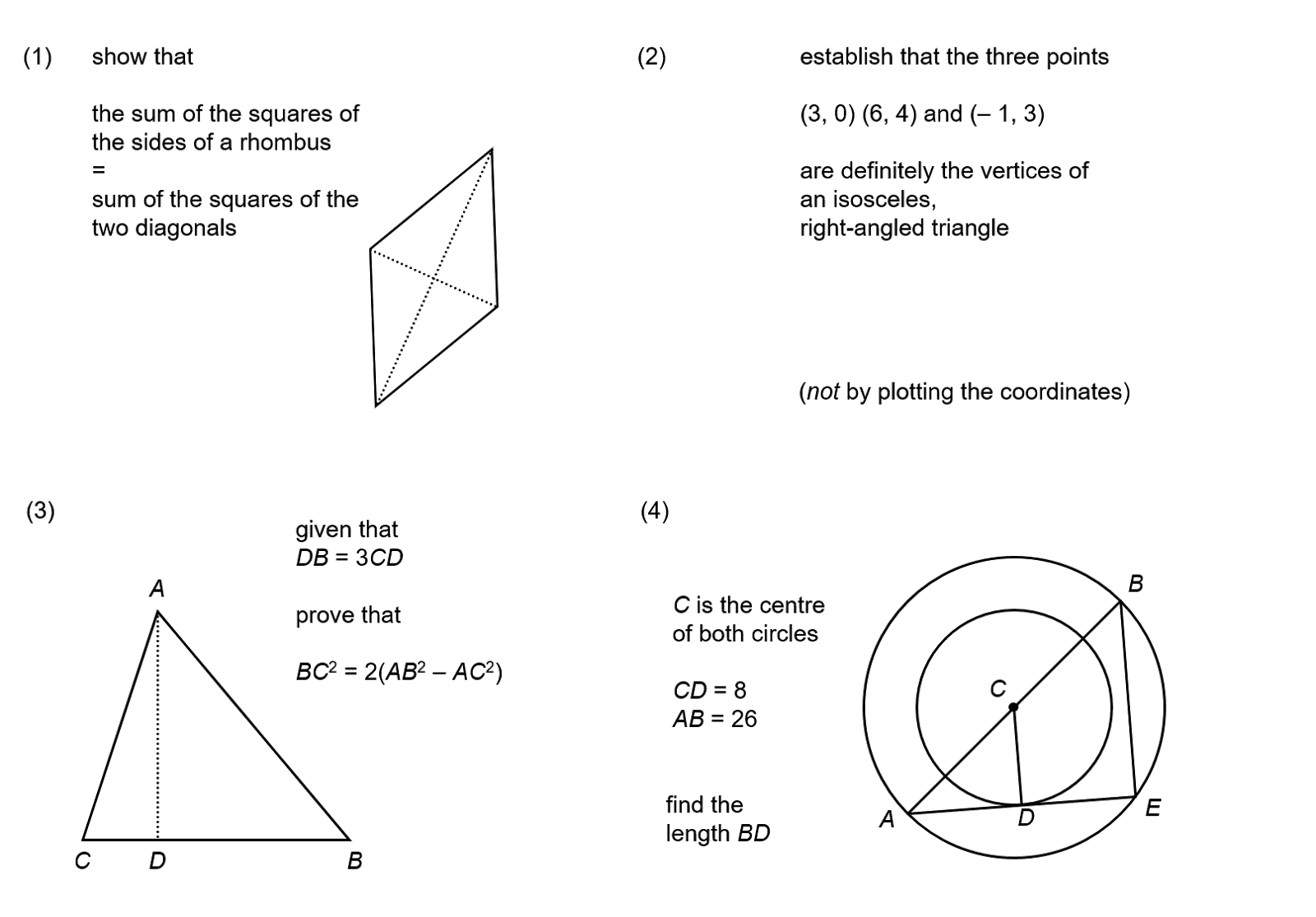 MEDIAN Don Steward mathematics teaching: pythagoras questions