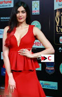 Adah Sharma in Red Deep Neck Spicy Gown ~  Exclusive 05.jpg