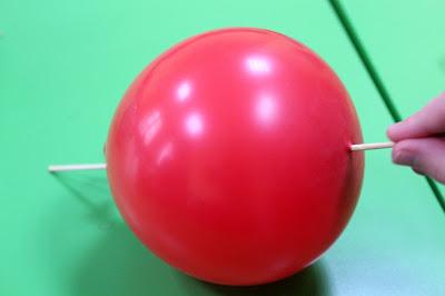eksperyment balonowy szaszłyk