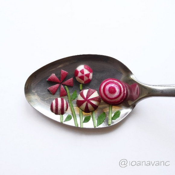 16-Radish-Flowers-Ioana-Vanc-Food-Art-using-Chocolate-Vegetables-and-Fruit-www-designstack-co
