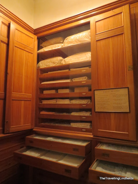 Linen cupboard at The Elms