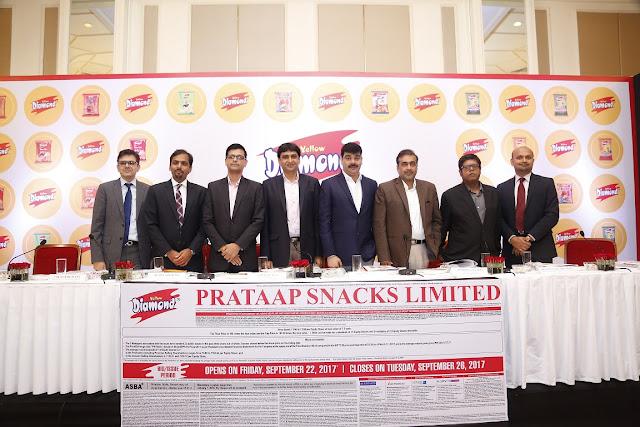 Prataap Snacks Limited – Initial Public Offer to open on Friday, September 22, 2017 and to close on Tuesday, September 26, 2017