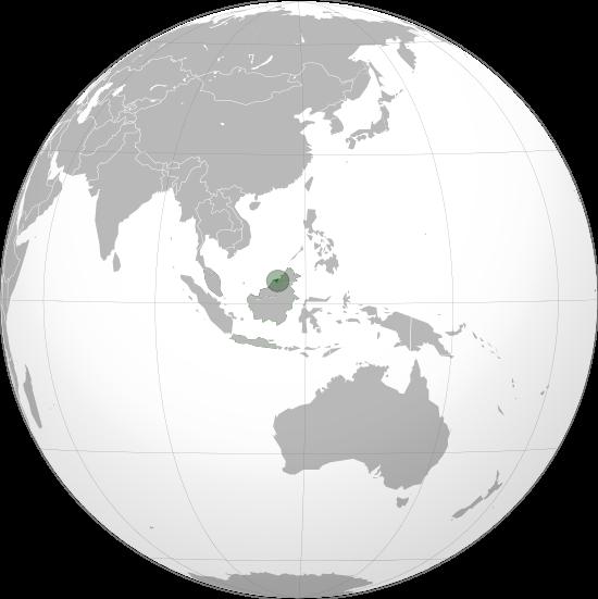 Letak negara Brunei Darussalam