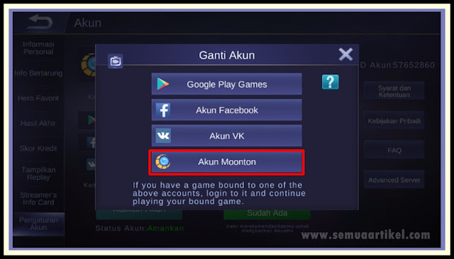 How To Create akun Moonton Mobile Legend
