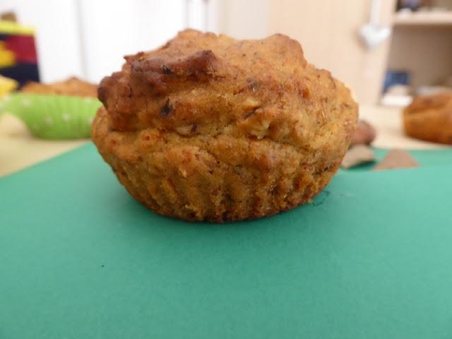 Ricetta dei muffin vegani con zucca e nocciole