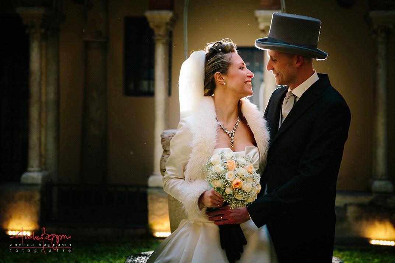 matrimonio sposi chiostri San Martino Genova