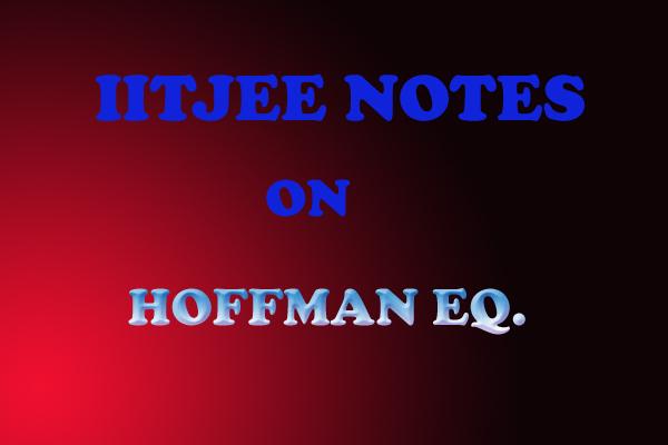 HOFFMAN EQUATION