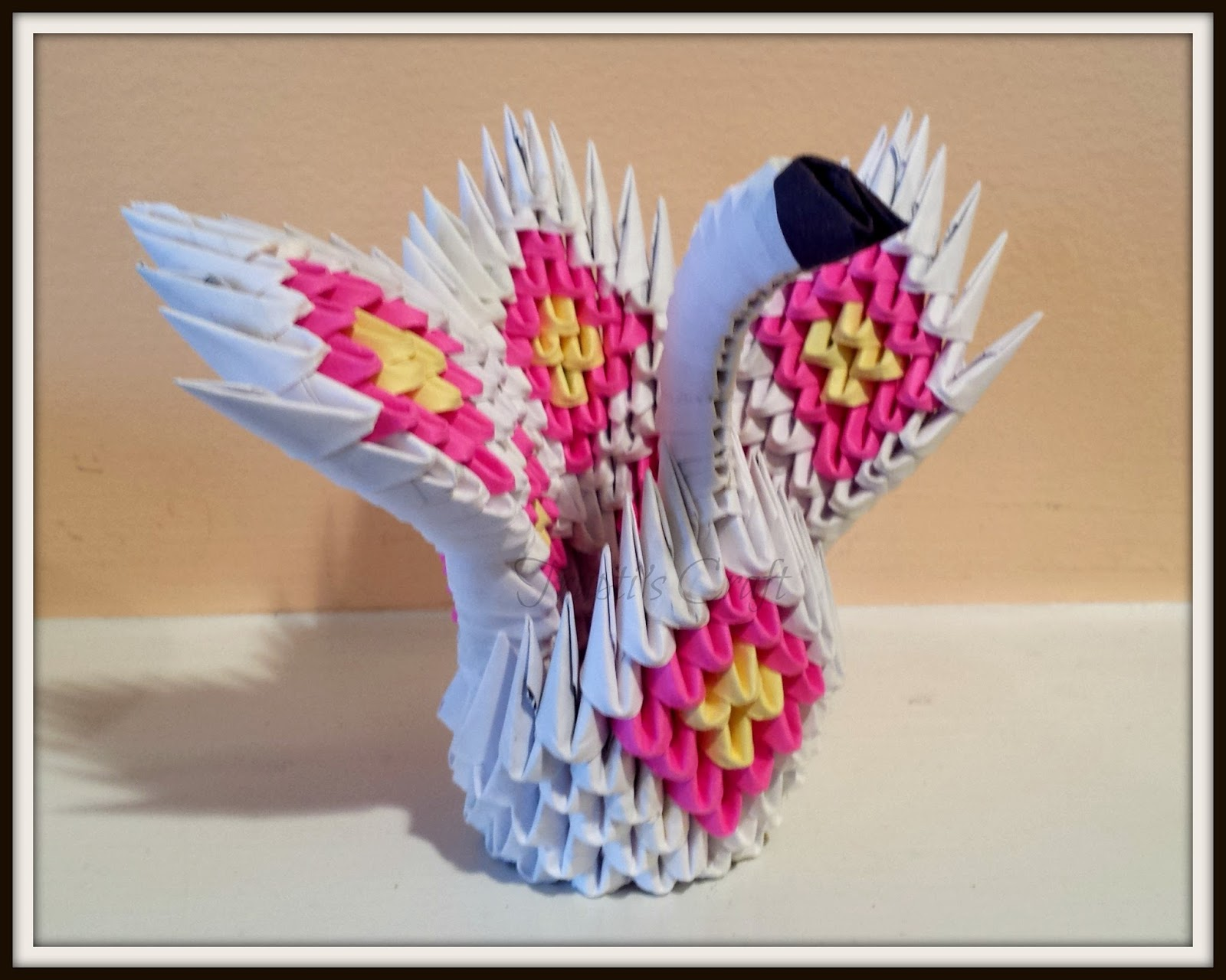 3D Origami small swan tutorial | DIY paper small swan - YouTube | 1280x1600